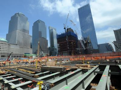 Die Baustelle an Ground Zero in New York, aufgenommen am 15.07.2010