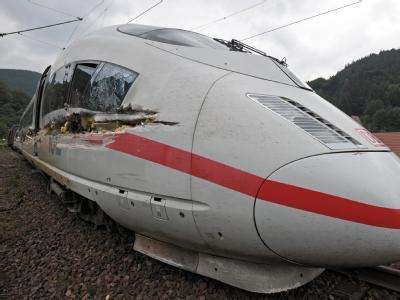 Der Unglücks-ICE war auf dem Weg von Frankfurt nach Paris.