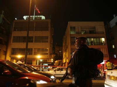 Zwischenfall in t�rkischer Botschaft in Tel Aviv