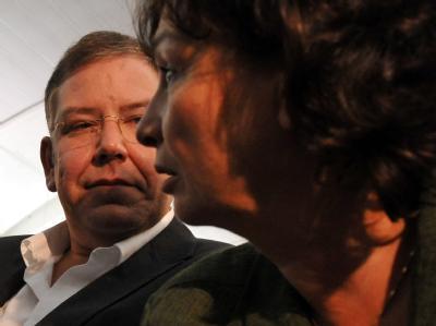 Hamburgs designierter Bürgermeister Christoph Ahlhaus (CDU) und die Senatorin für Schule und Berufsbildung, Christa Goetsch (Grün-Alternativen Liste).
