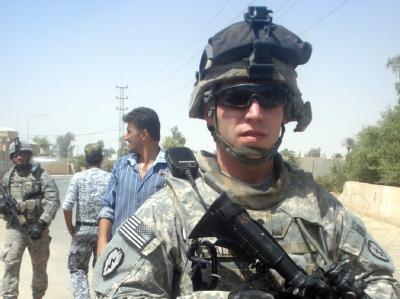 Ein US-Soldat in Samara (Archivfoto vom 04.08.2009).