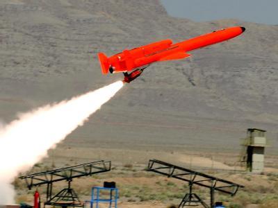Ein vom iranischen Verteidigungsministerium veröffentlichtes Bild mit dem Start einer Drohne.