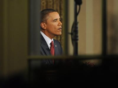 Obama während seiner Rede an die Nation.