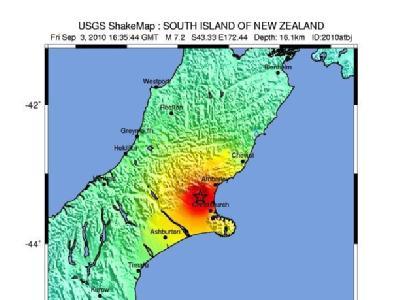 Erdbeben auf Neuseeland