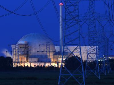 Das Kernkraftwerk Unterweser in Kleinensiel bei Esenshamm.