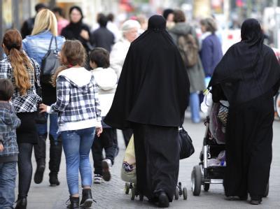 Verschleierte Frauen in Berlin