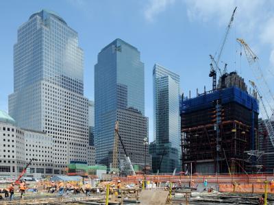 Die Baustelle am World Trade Center in New York.
