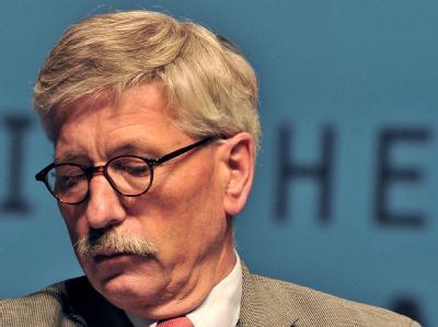 Bundesbank-Vorstand Thilo Sarrazin am Donnerstag bei einer Lesung aus seinem Buch «Deutschland schafft sich ab».