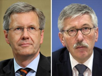 Bundespräsident Christian Wulff und Thilo Sarrazin.