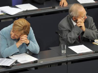 Bundestag - Merkel Schäuble