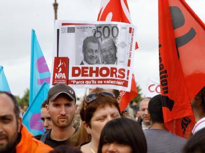 Protest gegen Frankreichs Rentenreform.