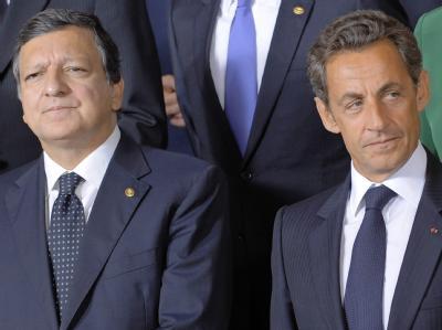 Jose Manuel Barroso (L) und Nicolas Sarkozy: In Brüssel hat es Streit über die Abschiebungen von Roma gegeben.