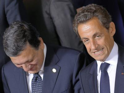 Jose Manuel Barroso und Nicolas Sarkozy: Die Stimmung in Brüssel war wenig entspannt.