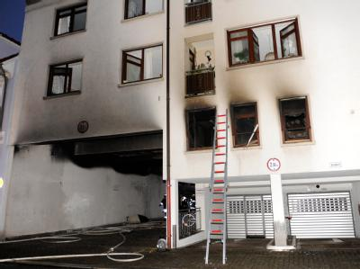 Ausgebrannte Wohnung