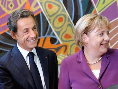 Nicolas Sarkozy und Angela Merkel im Hauptquartier der UN in New York.