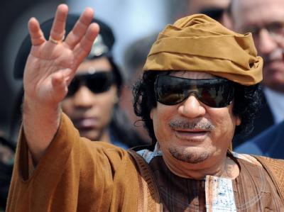 Libyens Staatschef Muammar al-Gaddafi bei seiner Ankunft in Rom (Archivfoto vom 29.8.2010).