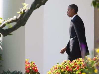 Barack Obama auf dem Weg zum UN-Gipfel in New York.