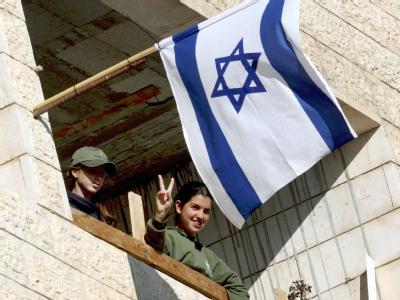Jüdische Siedler in einem Haus in Hebron (Archivfoto vom 18.11.2008).