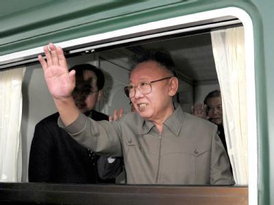 Nordkoreas Machthaber Kim Jong Il im Mai während eines China-Besuchs.