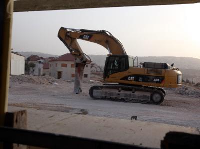 Baustelle im Westjordanland: Die Palästinenser verlangen eine Verlängerung des Baustopps während der Friedensverhandlungen.