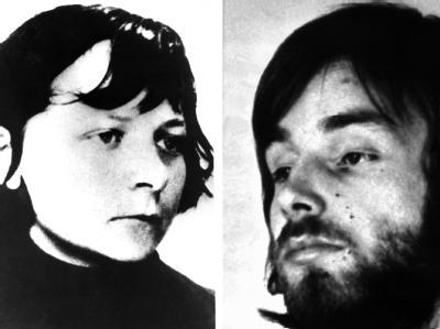 Verena Becker auf einem undatierten Fahndungsfoto und Stefan Wisniewski auf einem Polizeifoto aus dem Jahr 1977
