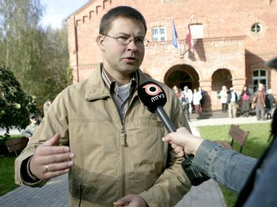 Der amtierende lettische Ministerpräsident Valdis Dombrovskis kann mit seinem Sieg bei der Parlamentswahl rechnen.