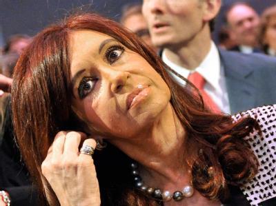 Argentiniens Präsidentin Cristina Fernández de Kirchner bei der die Eröffnungsfeier der Frankfurter Buchmesse