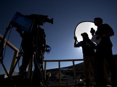 Unzählige Journalisten aus aller Welt hatten sich am Unglücksort in Chile eingefunden.