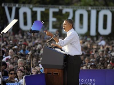 Wahlkampfveranstaltung mit Obama