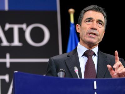 NATO-Generalsekretär Anders Fogh Rasmussen am vergangenen Montag im Hauptquartier des Bündnisses in Brüssel.
