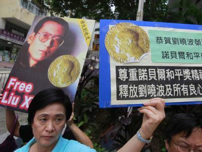 Demonstration f�r Liu Xiaobo