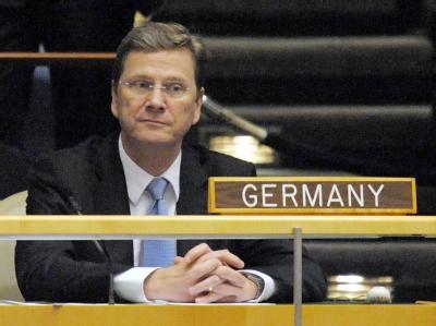 Bundesaußenminister Westerwelle am Dienstag im UN-Hauptquartier in New York.