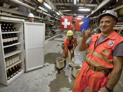 Feierstimmung im Gotthard