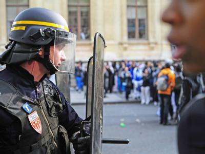 Rentenproteste in Frankreich