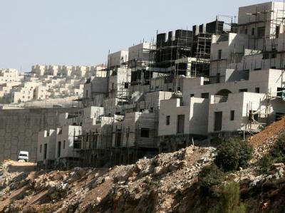 Rohbauten in der israelischen Siedlung Beitar Illit im Westjordanland.