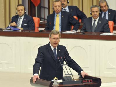 Wulff im türkischen Parlament
