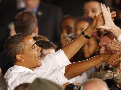 US-Präsident Barack Obama bei einer Wahlkampfveranstaltung in Las Vegas.