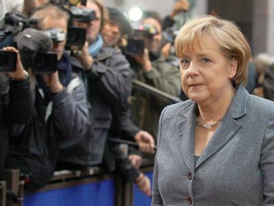 Kanzlerin Angela Merkel bei der Ankunft in Brüssel