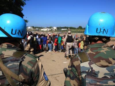 UN-Blauhelme bewachen die Grenze zwischen Haiti und der Dominikanischen Republik.
