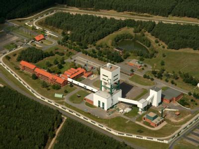 Das Luftbild zeigt das Gelände des geplanten Endlagers in Gorleben (Archivfoto vom 17.08.2008).