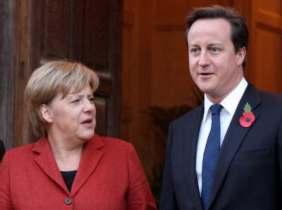 Wollen gemeinsam gegen den Terror ankämpfen: Bundeskanzlerin Angela Merkel und der britische Premierminister David Cameron.
