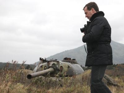 Medwedew auf umstrittenen Südkurilen