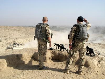 Deutsche Soldaten haben den Aufständischen eine ihrer Hochburgen genommen. Die Truppen sollen nun weiter «offensiv auf die Nester von Taliban zuzugehen».