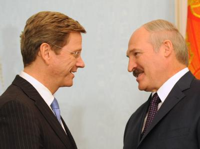 Westerwelle und Lukaschenko