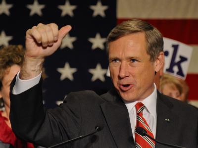 Der Republikaner Mark Kirk freut sich in Illinois über seinen Sieg.
