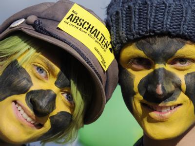 Schwarz-Gelb: Atomkraftgegner protestieren in Dannenberg gegen den Castor-Transport.