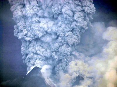 Ausbruch des Vulkans Merapi