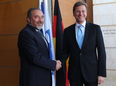 Außenminister Guido Westerwelle und sein israelischer Amtskollege Avigdor Lieberman.