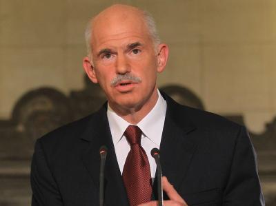 Die Sozialisten von Regierungschef Papandreou sind als Sieger aus der zweiten Runde der griechischen Regional- und Kommunalwahlen hervorgegangen. (Archivbild)