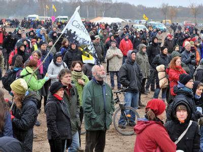 Protest gegen Castor-Transport